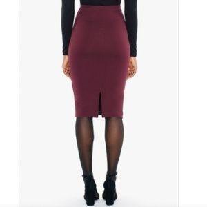 ✨NWT✨American Apparel Pencil Skirt (Burgundy)